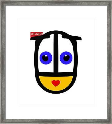 uBABE Logo Framed Print