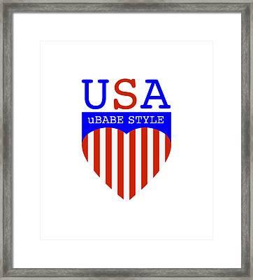Ubabe Style America Framed Print