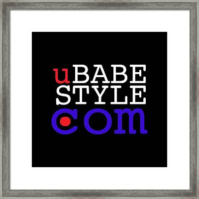 Ubabe Style Dot Com Framed Print