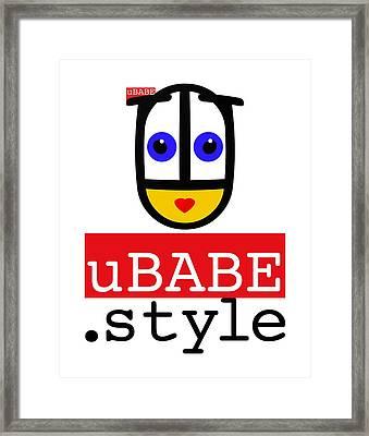 Ubabe T Shirt Framed Print