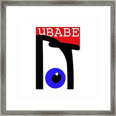 uBABE Framed Print