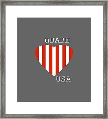 uBABE USA Framed Print