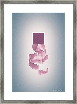 Uhtceare - Abstract Surreal Geometric Crab Legs Framed Print