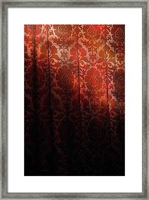Uk, England, Oxford, Light On Red Fabric Framed Print by Westend61