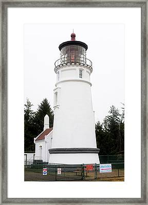 Framed Print featuring the photograph Umpqua River Lighthouse Oregon 101818 by Rospotte Photography