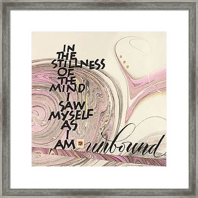 Unbound Framed Print