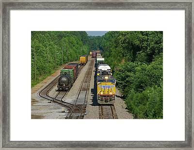 Framed Print featuring the photograph Uncle Pete Coming To Town 2 by Joseph C Hinson Photography