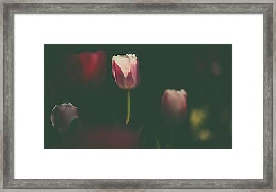 Under The Beam Framed Print