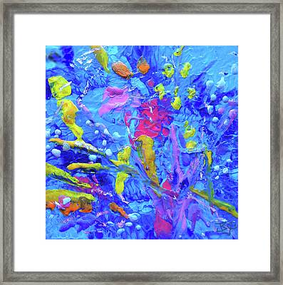 Under The Reef - Detail Framed Print