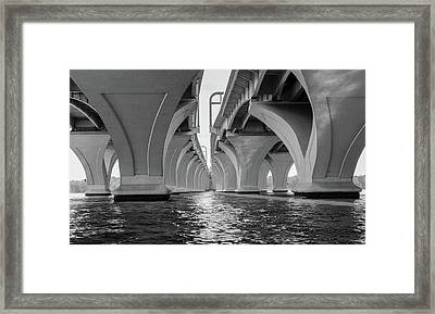 Under The Woodrow Wilson Bridge Framed Print