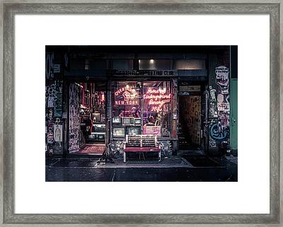 Underground Boxing Club Nyc Framed Print