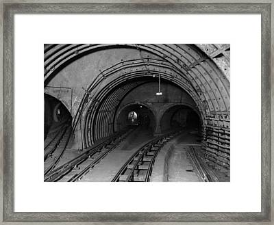 Underground Mail Framed Print by E. Bacon