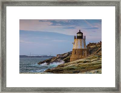 Unfazed By The Encroaching Sea Framed Print