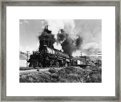 Union Pacific Train Framed Print by Gabriel Hackett