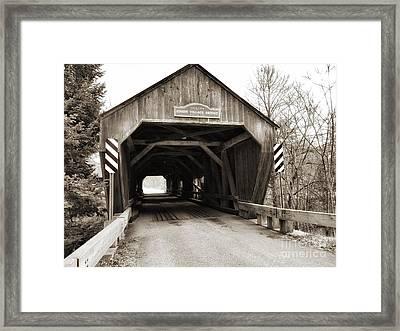Union Village Covered Bridge Framed Print