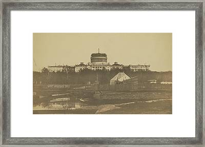 United States Capitol Under Construction Framed Print