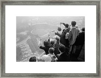Univ. Of Pittsburgh Students Cheering Wi Framed Print