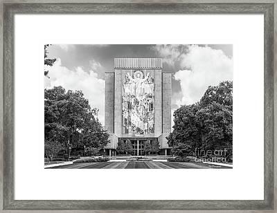 University Of Notre Dame Hesburgh Library Framed Print