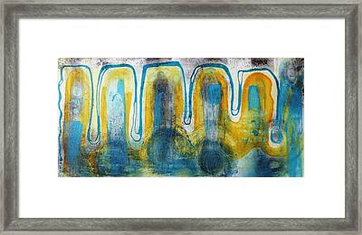 Framed Print featuring the painting Untitled2 by 'REA' Gallery