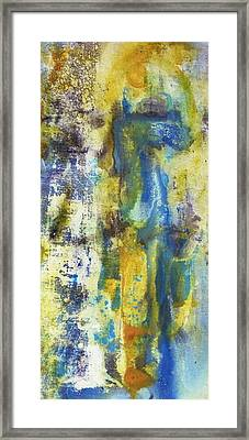 Framed Print featuring the painting Untitled3 by 'REA' Gallery