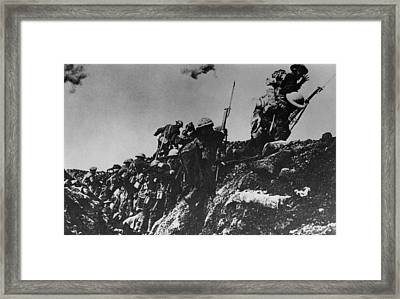 Up And At Em Framed Print by Hulton Archive