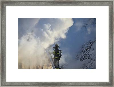 Framed Print featuring the photograph Up In Smoke by Carl Young
