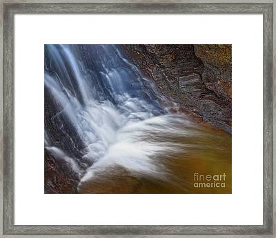 Framed Print featuring the photograph Upper Cascade 10 by Patrick M Lynch