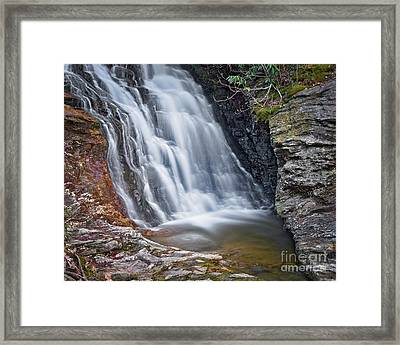 Framed Print featuring the photograph Upper Cascade 2 by Patrick M Lynch