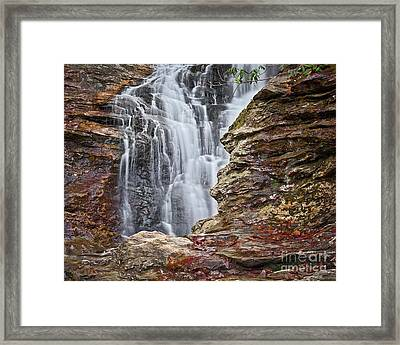 Framed Print featuring the photograph Upper Cascade 3 by Patrick M Lynch