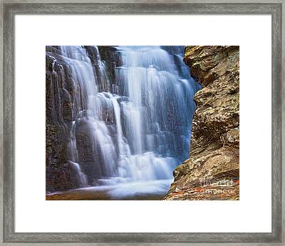Framed Print featuring the photograph Upper Cascade 4 by Patrick M Lynch