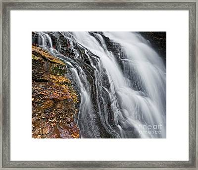Framed Print featuring the photograph Upper Cascade 5 by Patrick M Lynch