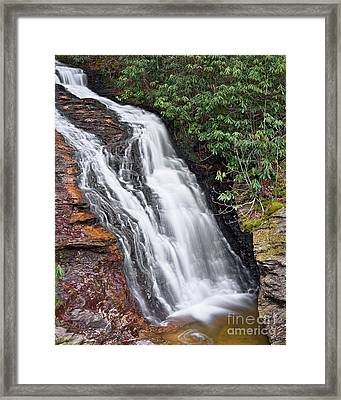 Framed Print featuring the photograph Upper Cascade 6 by Patrick M Lynch
