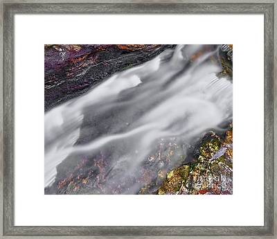 Framed Print featuring the photograph Upper Cascade 7 by Patrick M Lynch