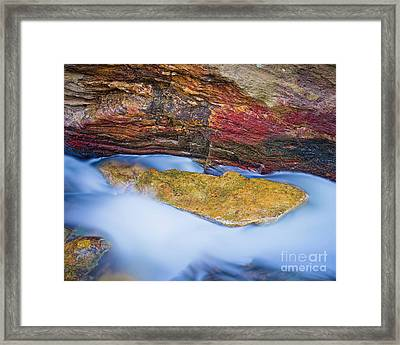 Framed Print featuring the photograph Upper Cascade 8 by Patrick M Lynch