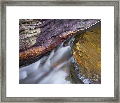 Framed Print featuring the photograph Upper Cascade 9 by Patrick M Lynch