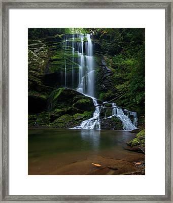 Upper Catawba Falls, North Carolina Framed Print
