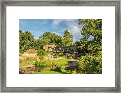Upper Slaughter, Gloucestershire Framed Print by David Ross