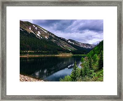Framed Print featuring the photograph Urad Lake by Dan Miller
