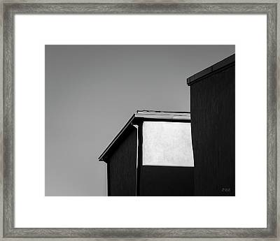 Framed Print featuring the photograph Urban Abstract II Bw by David Gordon
