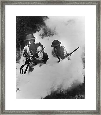 Us Infantry Framed Print by Hulton Archive