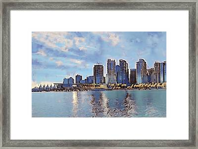 Vancouver From English Bay Framed Print by Keith Cassatt