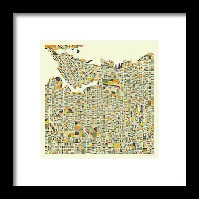 Vancouver Framed Prints