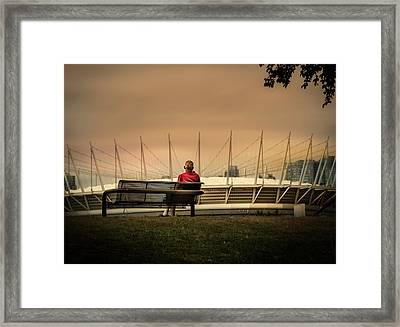 Vancouver Stadium In A Golden Hour Framed Print