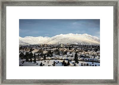 Vancouver Winterscape Framed Print