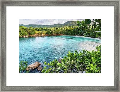 Vantage Views In Portland Jamaica Framed Print