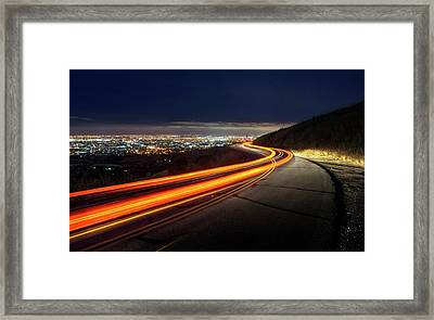 Varooom And Rammstein Over The Silicon Valley Framed Print