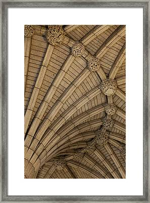 Vaulted Ceiling In The Centre Block In Framed Print