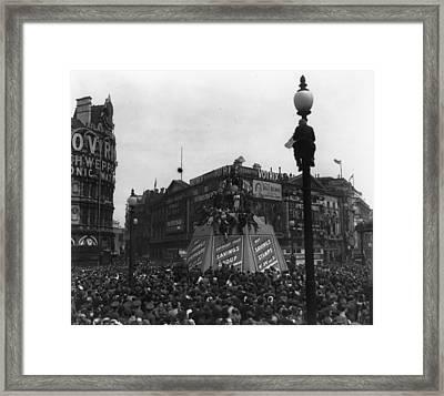 Ve Day In London Framed Print by Keystone