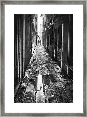 Venetian Alley Framed Print
