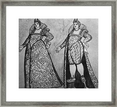 Venetian Fashion Framed Print by Hulton Archive